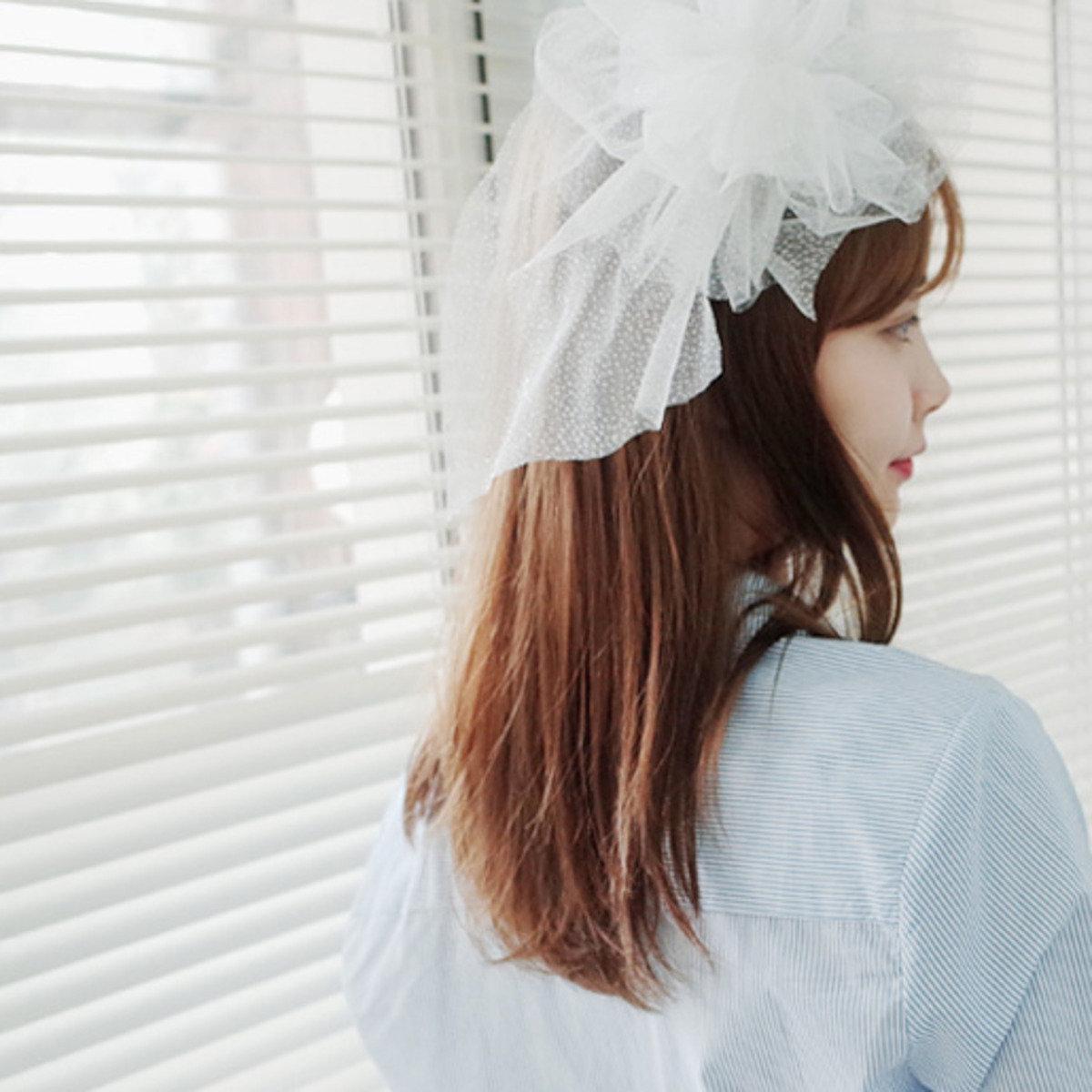 白色紗款頭箍_C63PHAC2