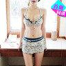 彩色花圖案配裙款三件頭泳衣_CK-PUAC3204