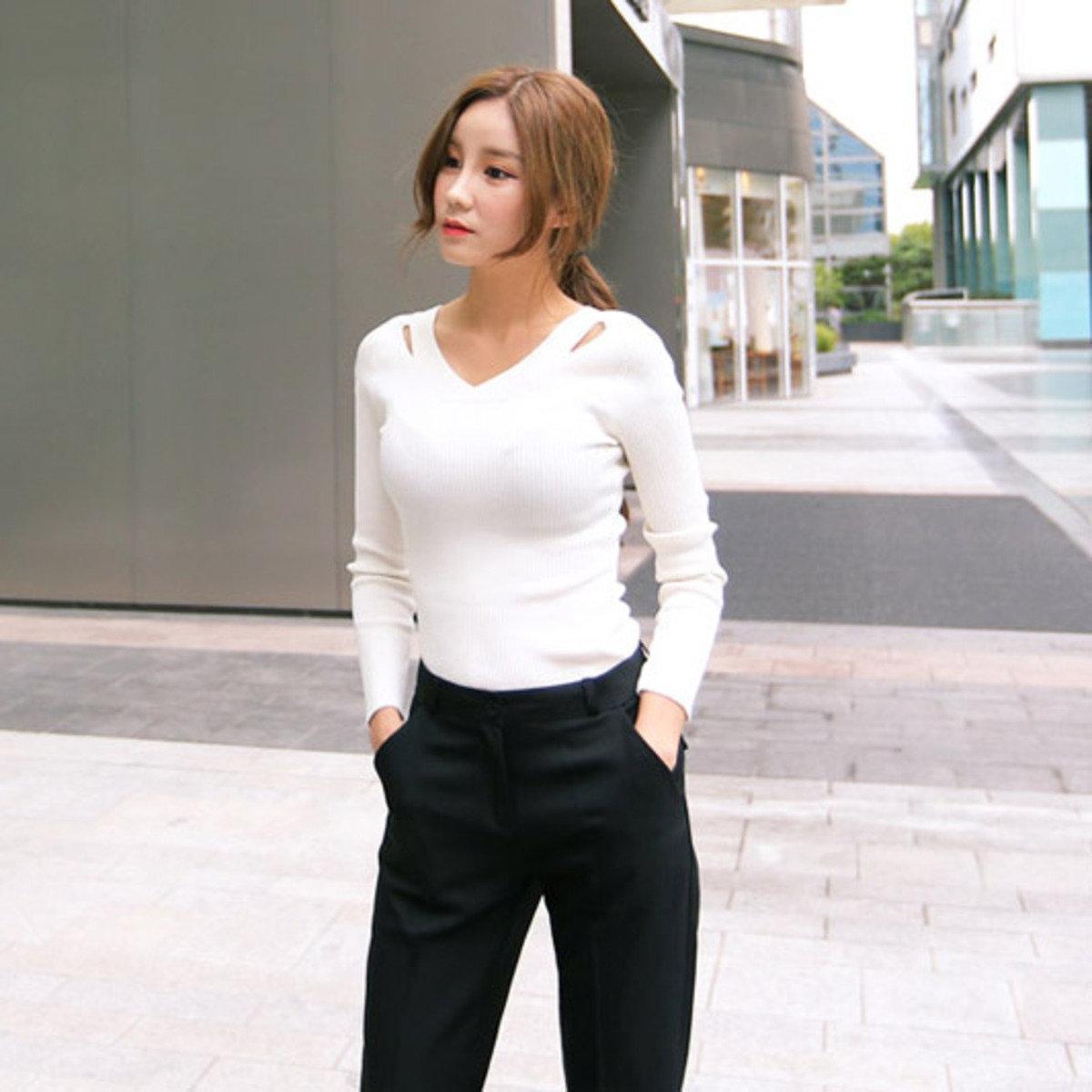 純色貼身長袖T恤_CR-T0914-68