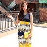 雙色碎花連身裙_CV-S1026023