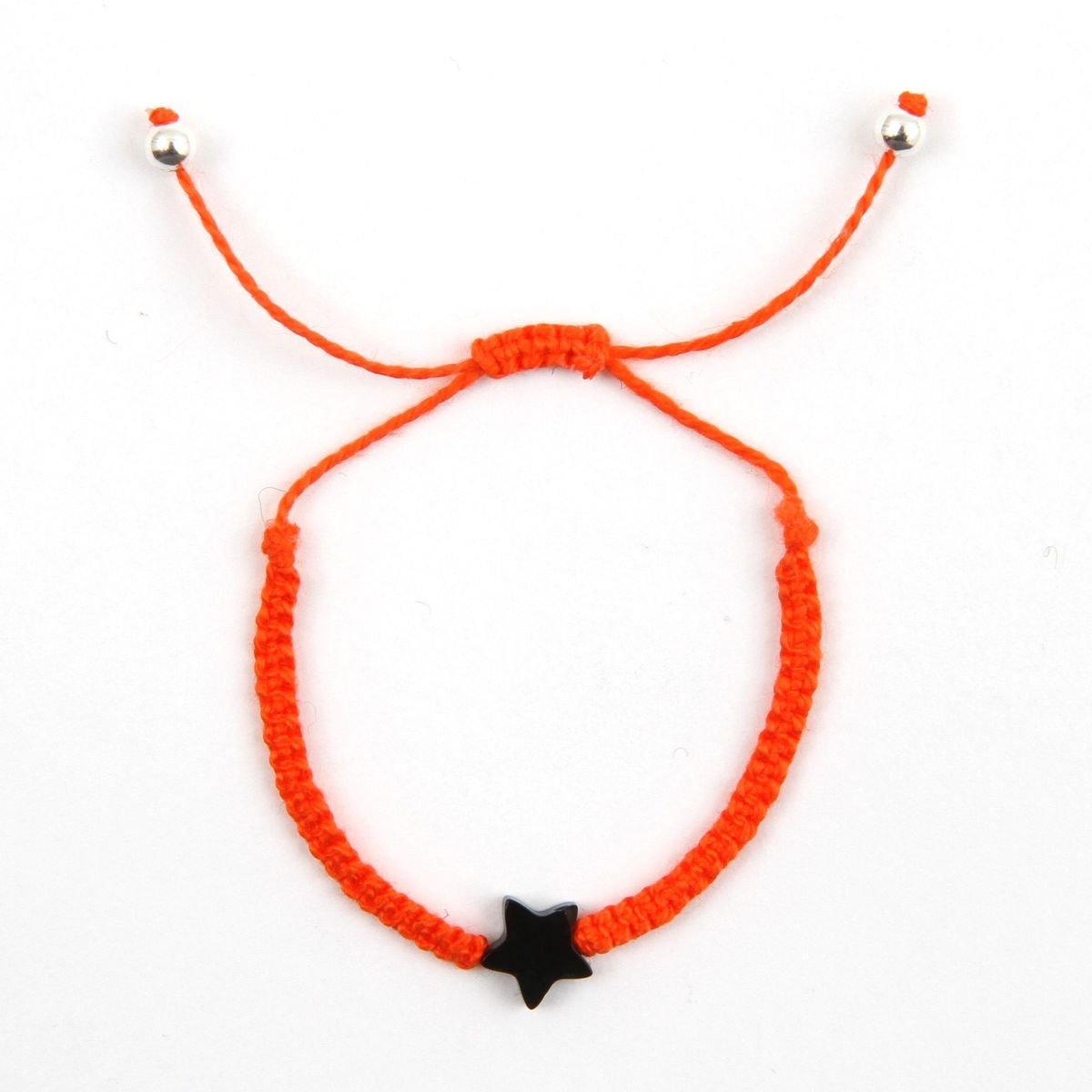 深橙色可調節縞瑪瑙手繩_BRBR5E209DO