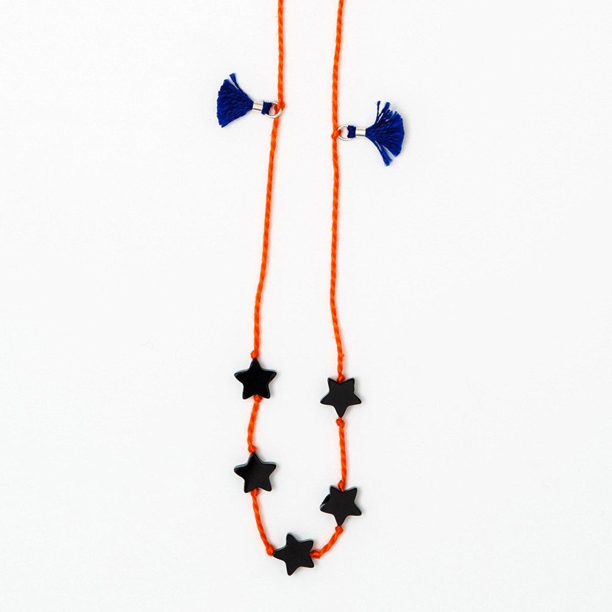 簡約深橙色縞瑪瑙手繩_BRNE5E122DO