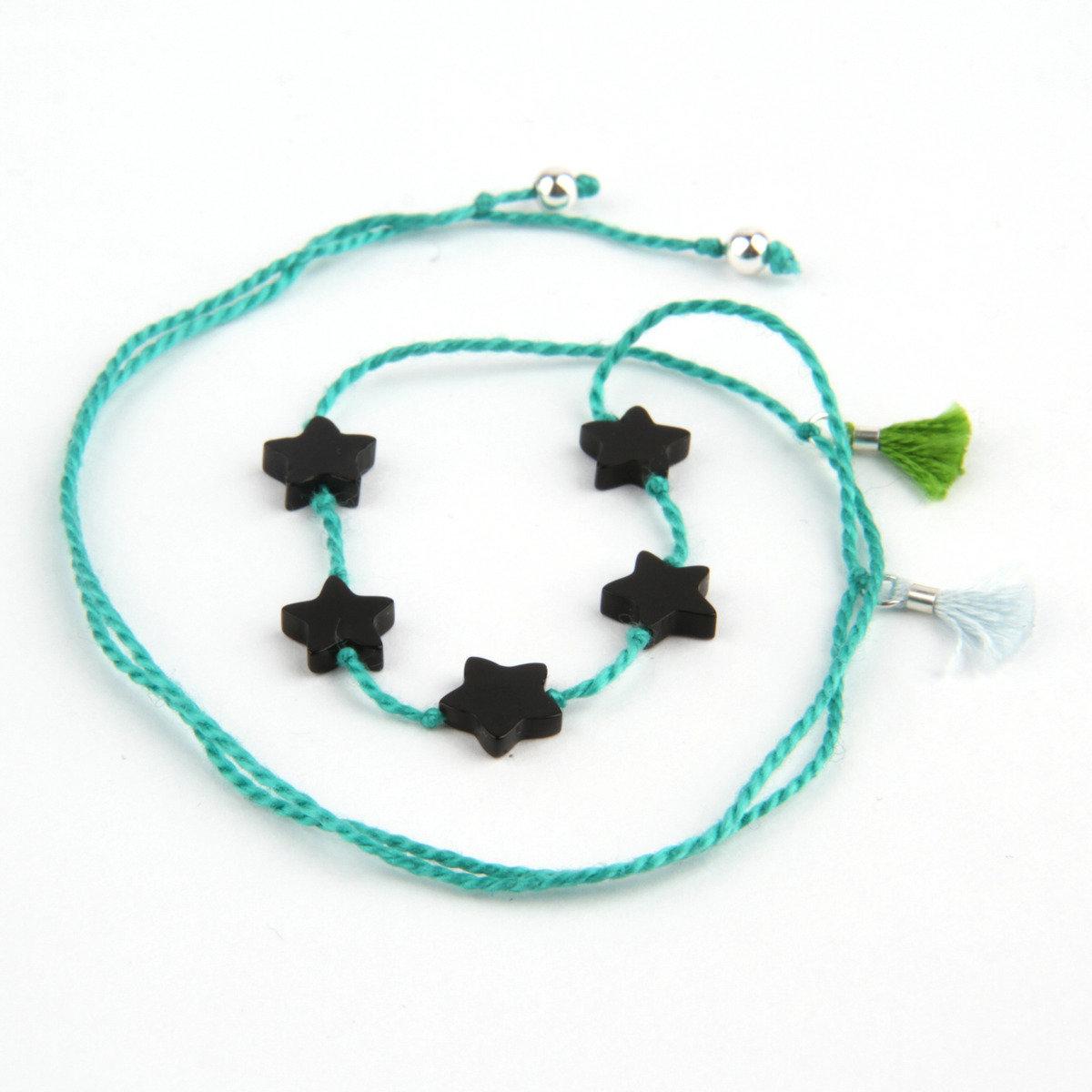 簡約綠色縞瑪瑙手繩_BRNE5E123GE