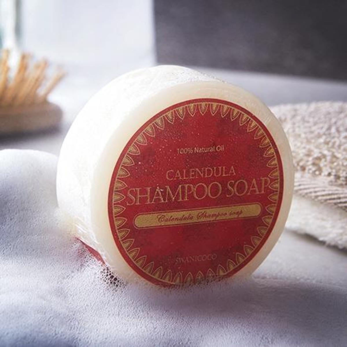 天然金盞花洗髮皂