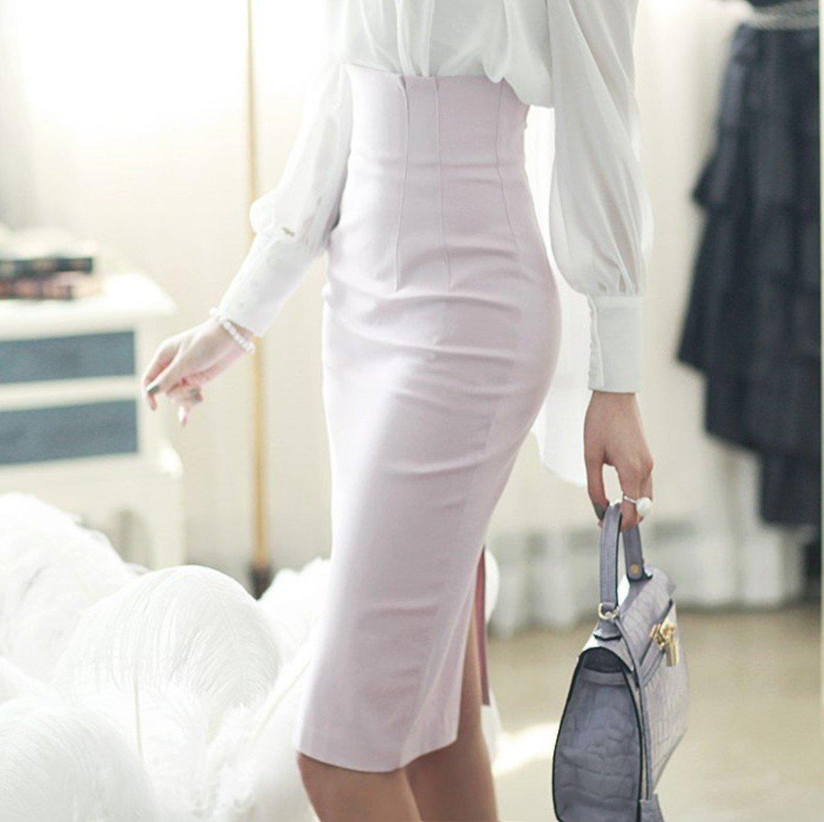 高腰貼身半截裙_SK1063