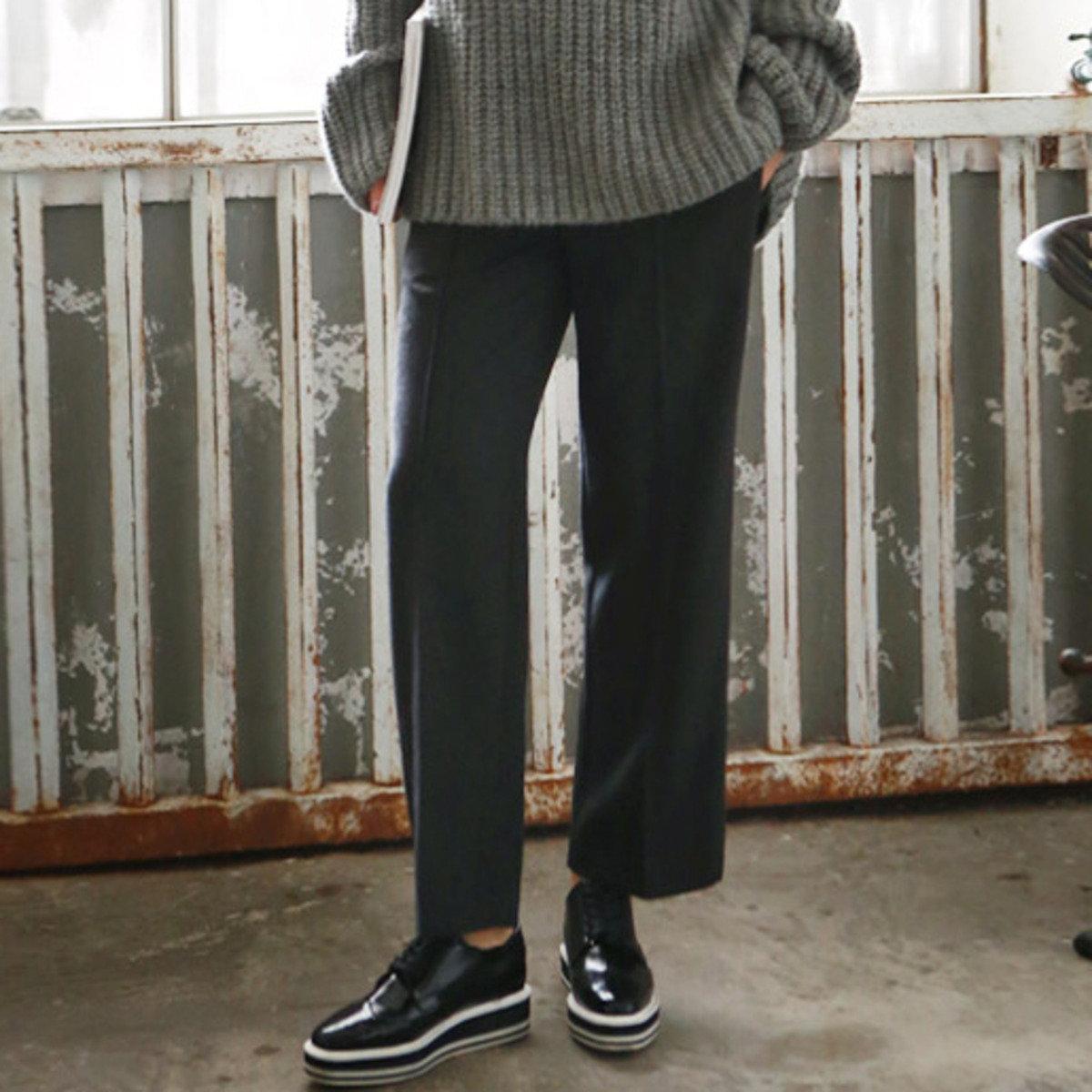 P-1438_CHA_ 闊腳長褲 (孕婦裝)