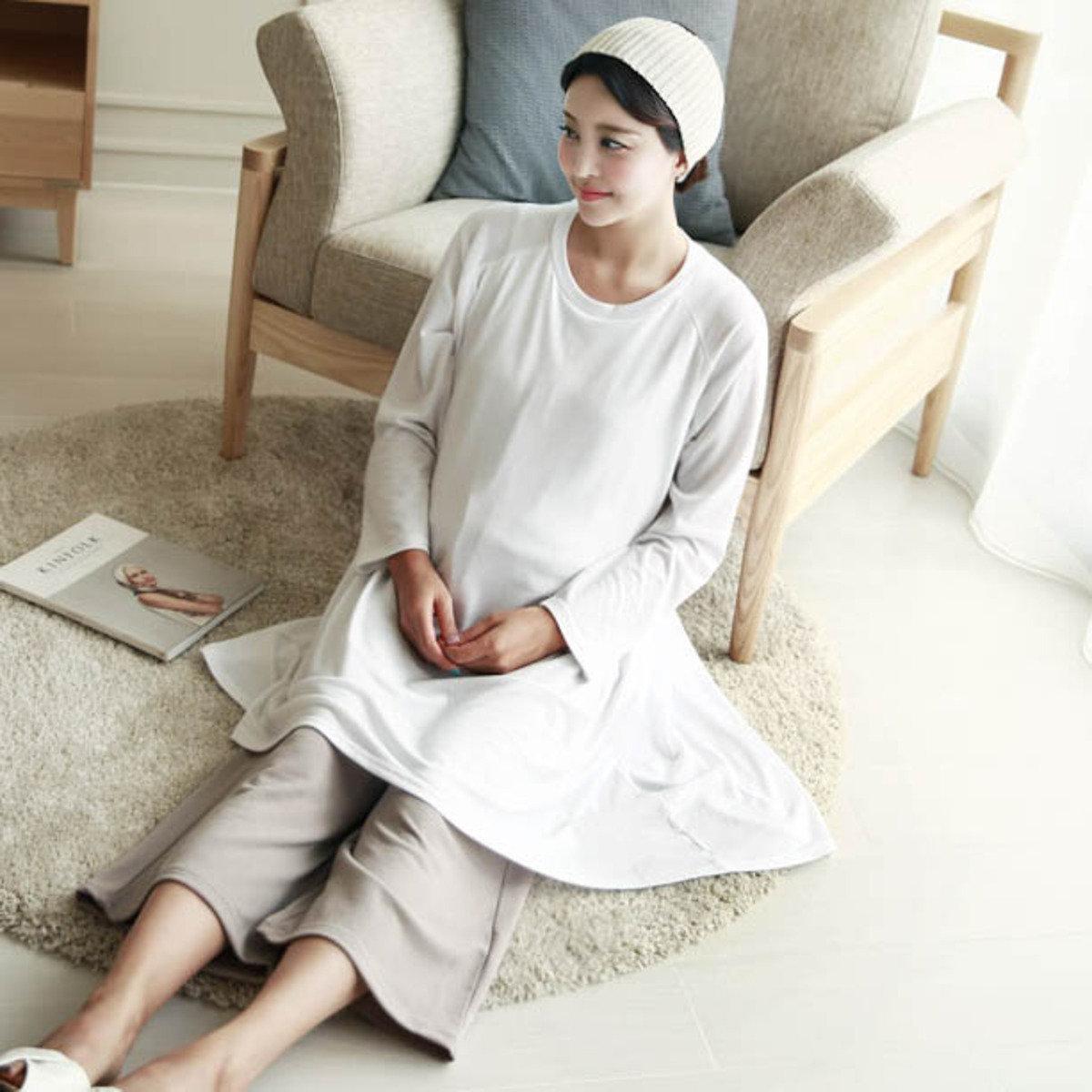 H-1128_圓領寬鬆哺乳T恤 (孕婦裝)