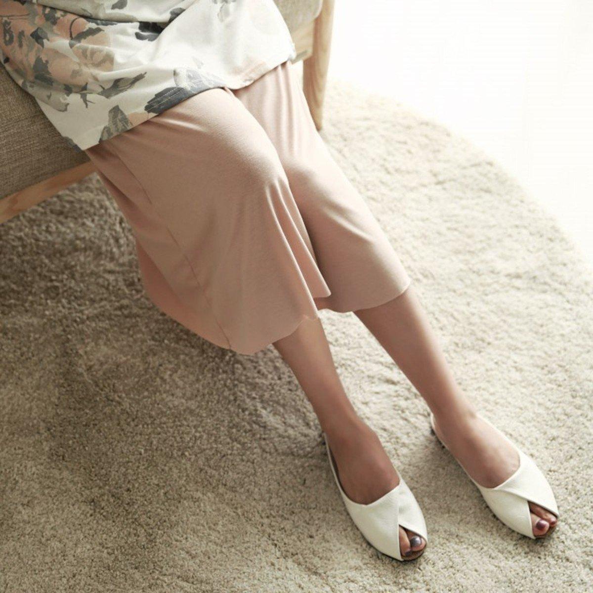 P-1505_束腰繩闊腳裙褲 (孕婦裝)