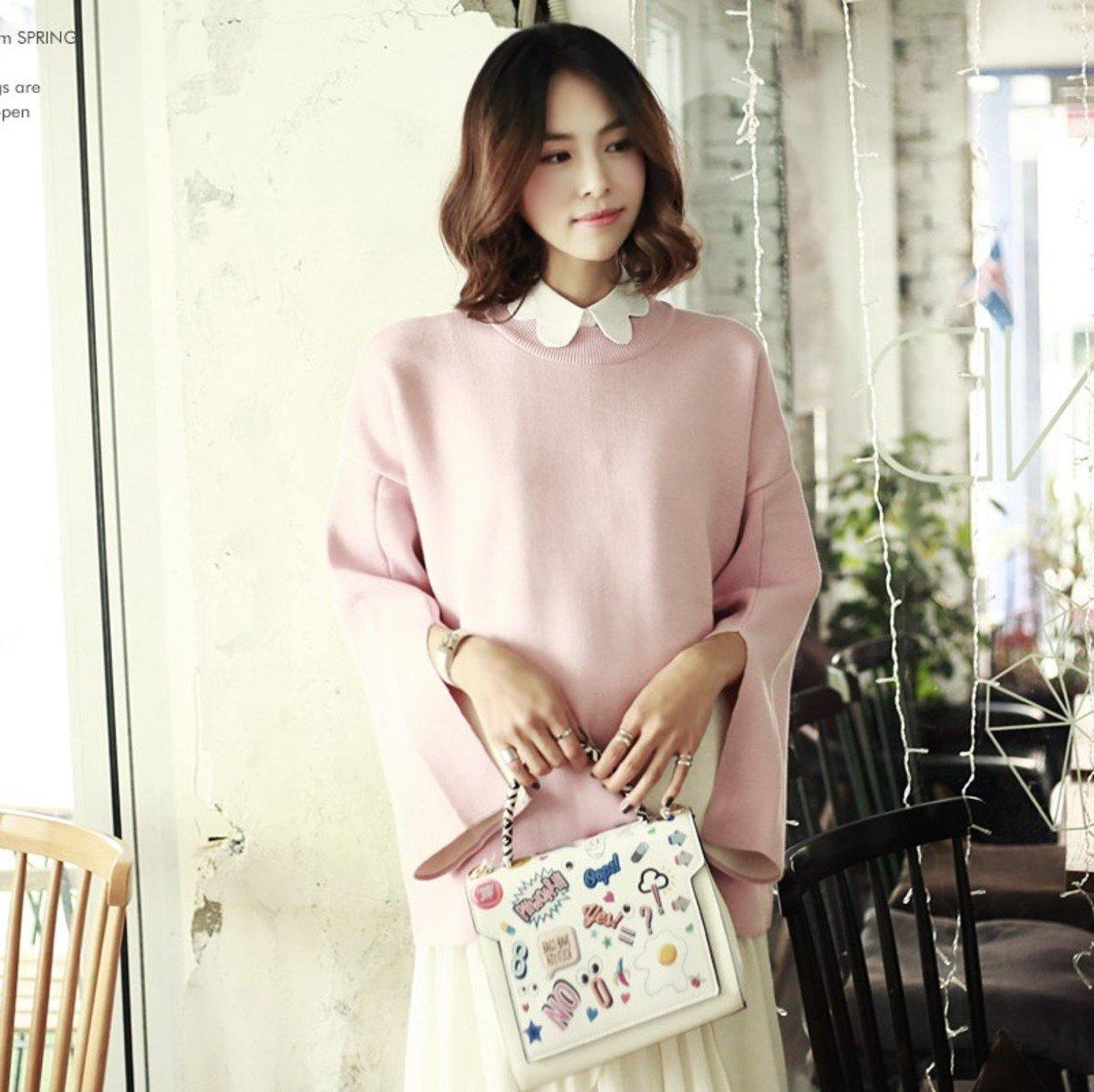 E-3946_高叉袖口針織上衣 (孕婦裝)
