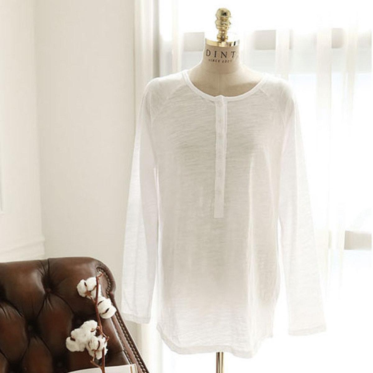 H-1142_半胸開鈕哺乳上衣 (孕婦裝)