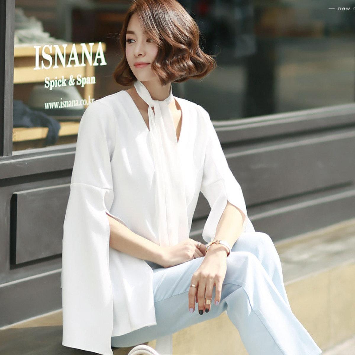 B-823_開叉闊袖V領襯衫 (孕婦裝)