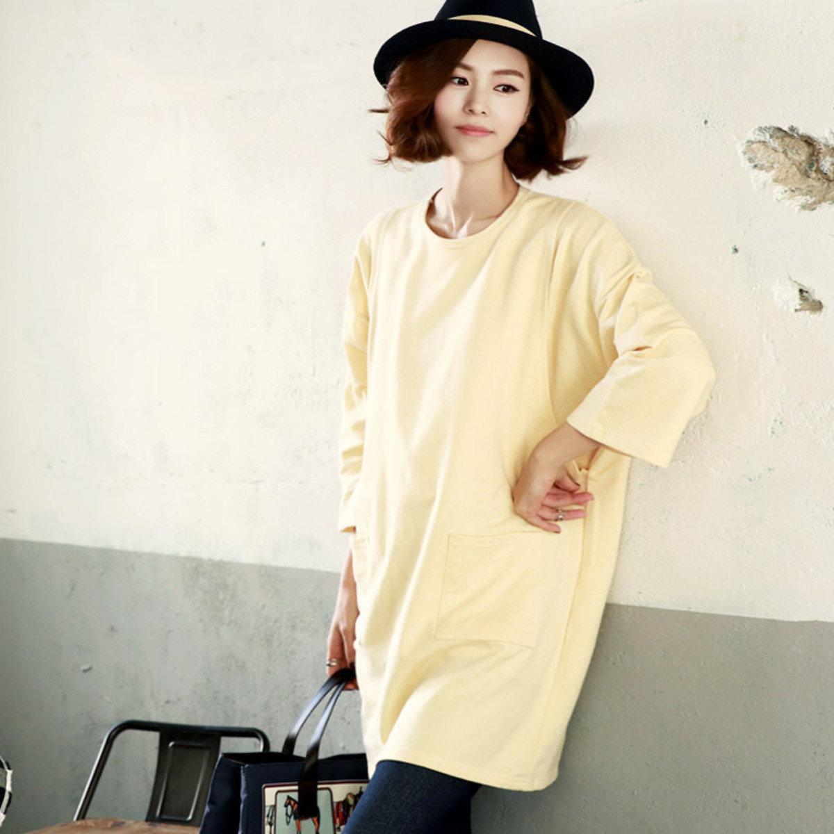H-1152_雙袋側開裂縫哺乳襯衫 (孕婦裝)