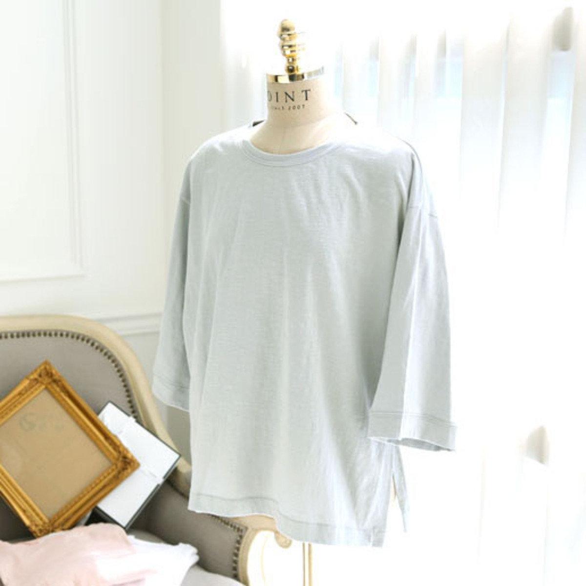 E-3978_圓領開腳叉T恤 (孕婦裝)