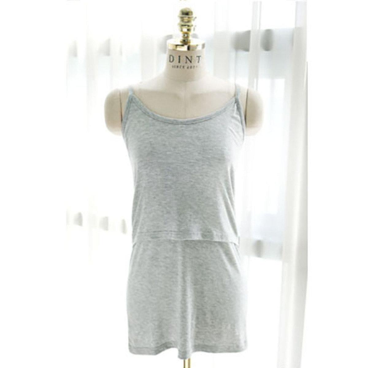 H-1163_底層裂縫哺乳背心上衣 (孕婦裝)