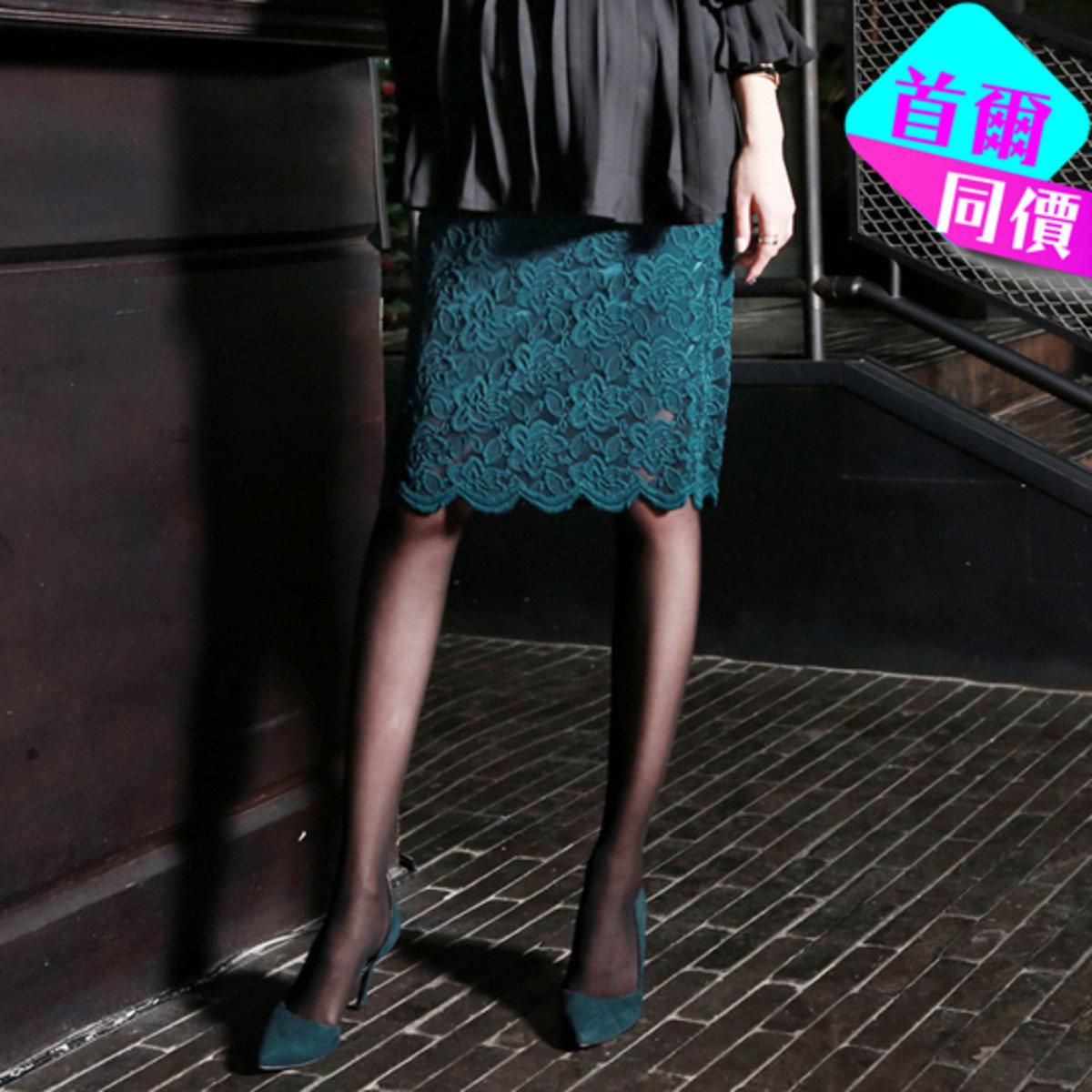 SK-389_花圖案喱士半截裙 (孕婦裝)