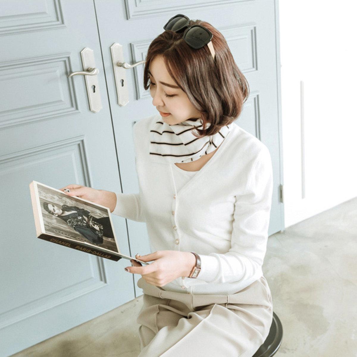 斜條紋頸巾_JA0821