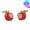 蘋果鑲石耳環