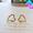 鏤空心型耳環