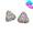 三角型鑲多石耳環