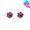 圓形鑲紅石耳環