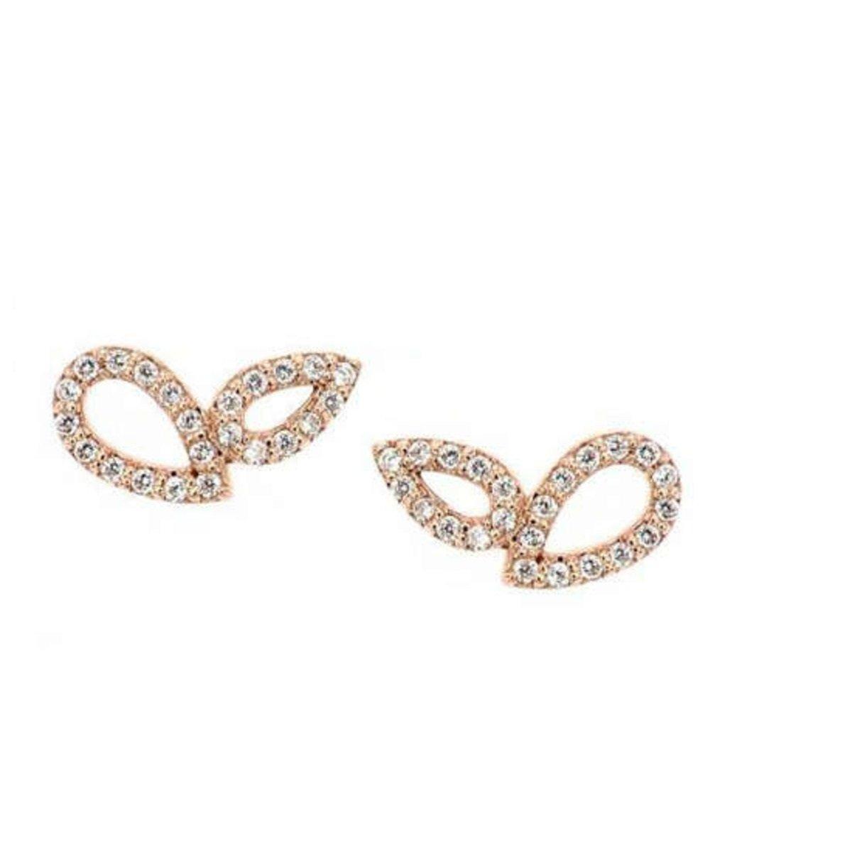 14K鑲鋯石水滴形狀耳環(3色)