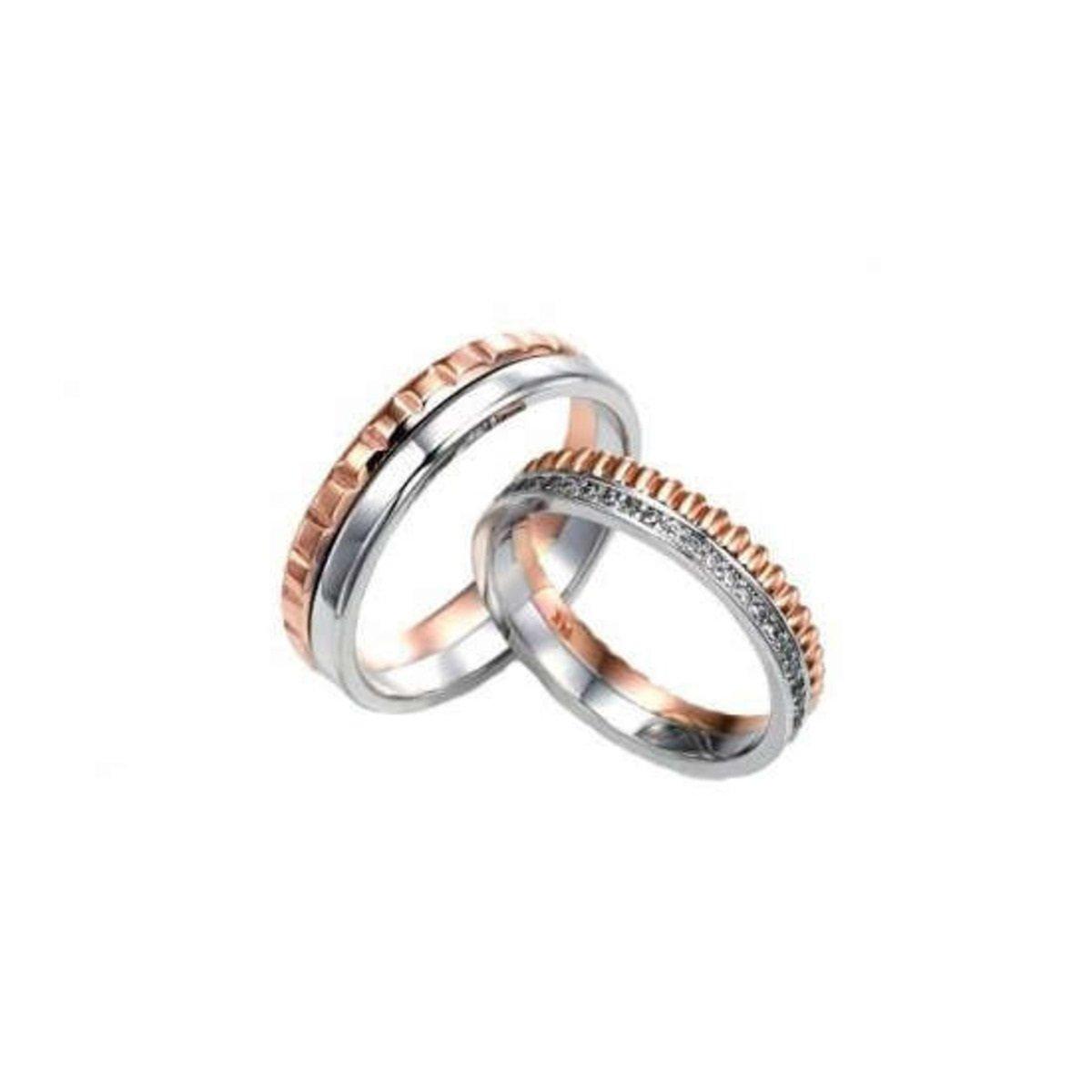 14K 齒輪紋雙色情侶戒指 (女款)