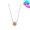 14K金鋯石花形吊墜頸鏈(3色)