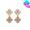 14K鋯石雙花耳環(2色)
