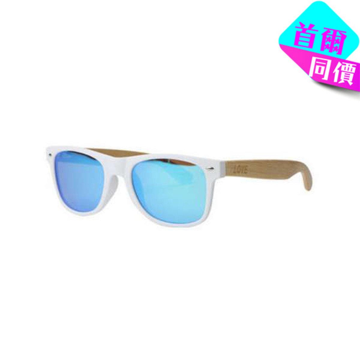 MATTE WHITE - 白色框竹柄太陽眼鏡