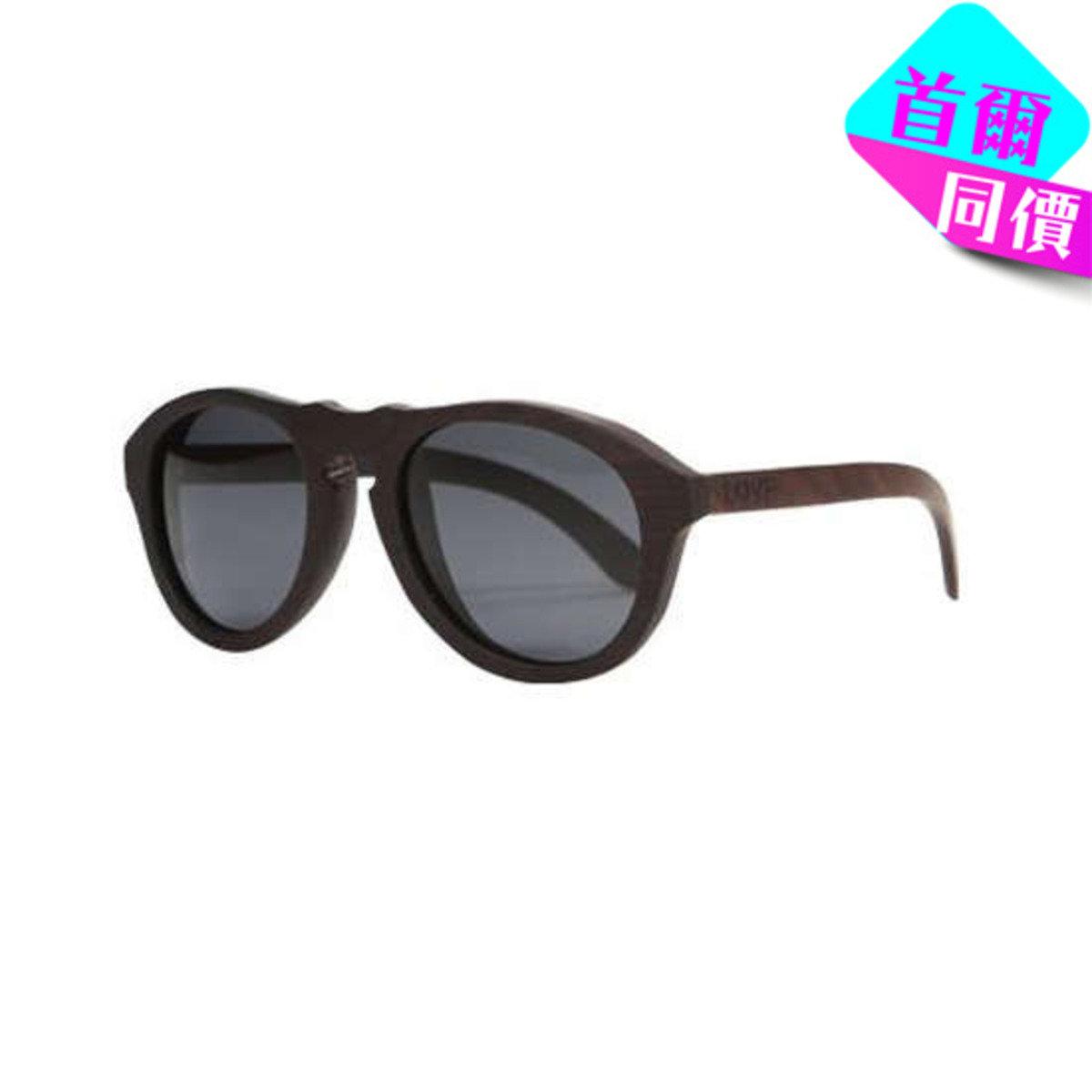 WOLF - 黑色烏木框架太陽眼鏡