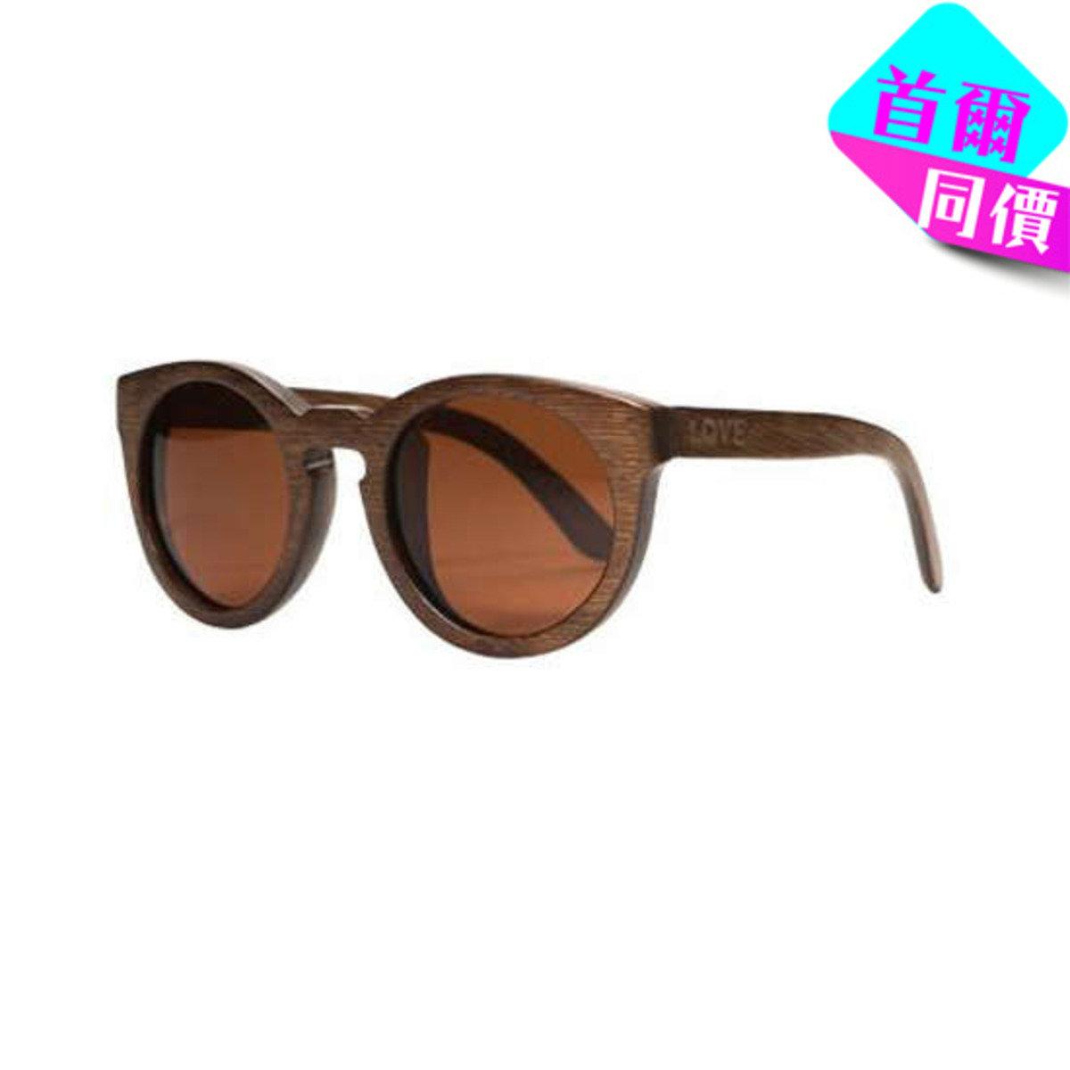 LACE  - 啡色木製框架太陽眼鏡