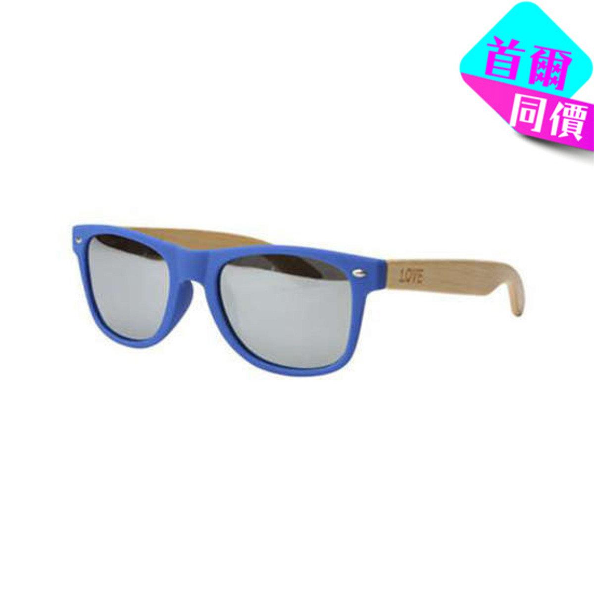 MATTE BLUE - 藍色框竹柄太陽眼鏡