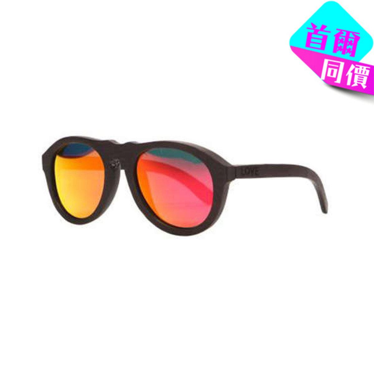 WOLF - 深啡啞色烏木框架太陽眼鏡