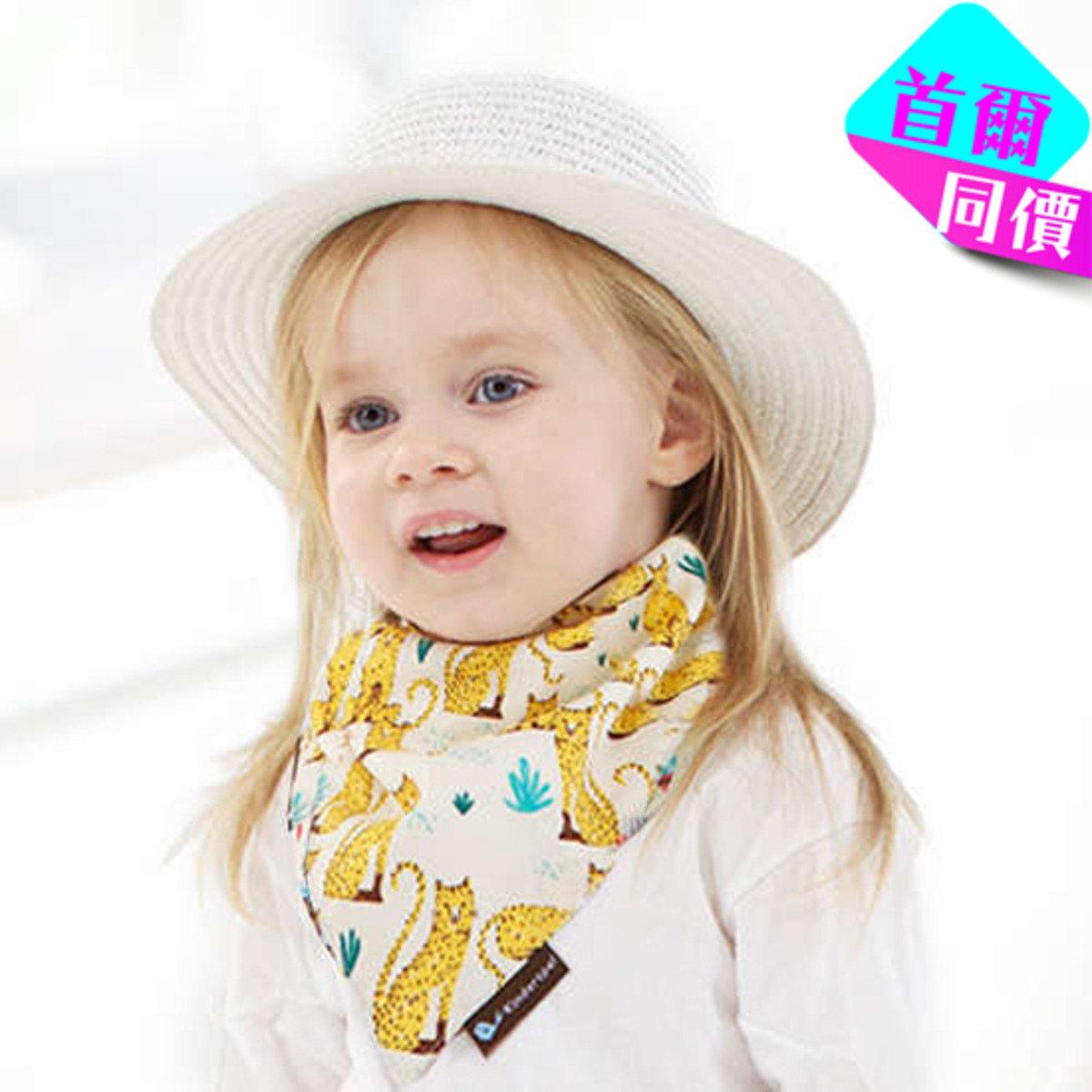 熱帶草原貓棉質圍兜領巾