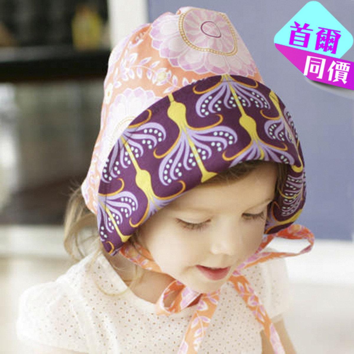 亮麗橙紫太陽童話花帽