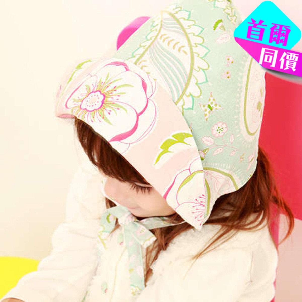 優雅粉藍太陽童話花帽