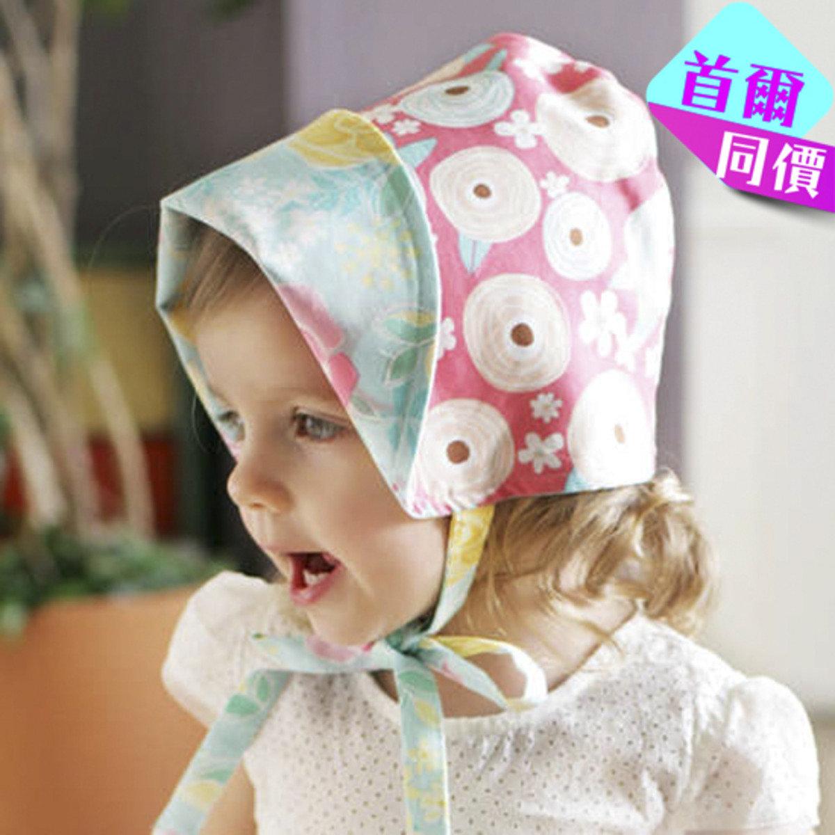可愛桃藍太陽童話花帽