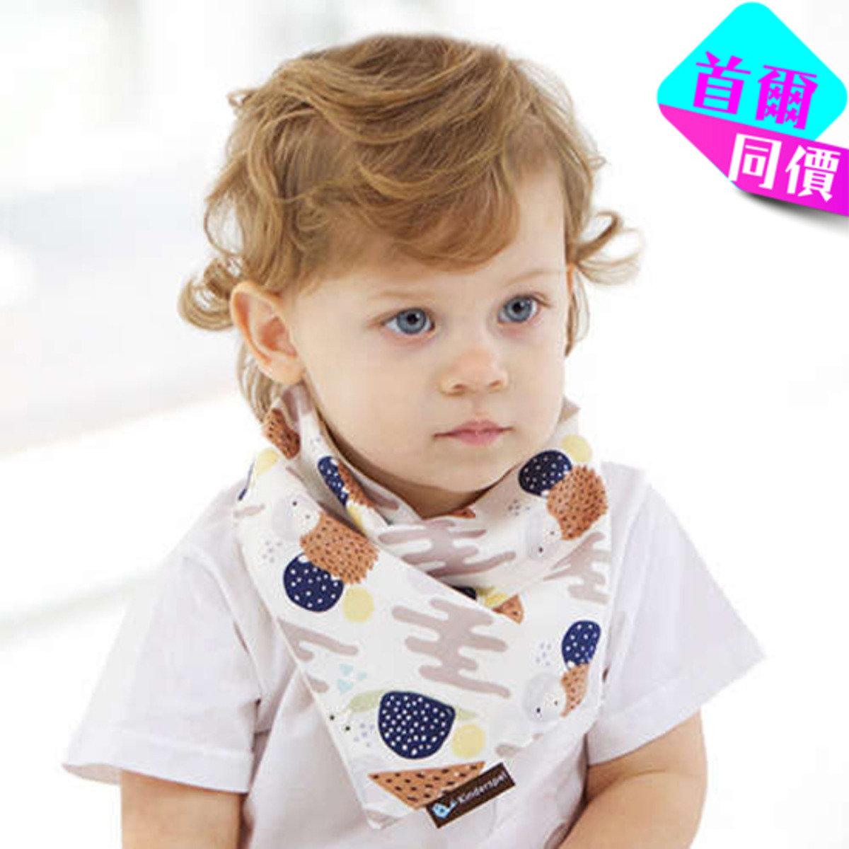 可愛小刺蝟棉質圍兜領巾