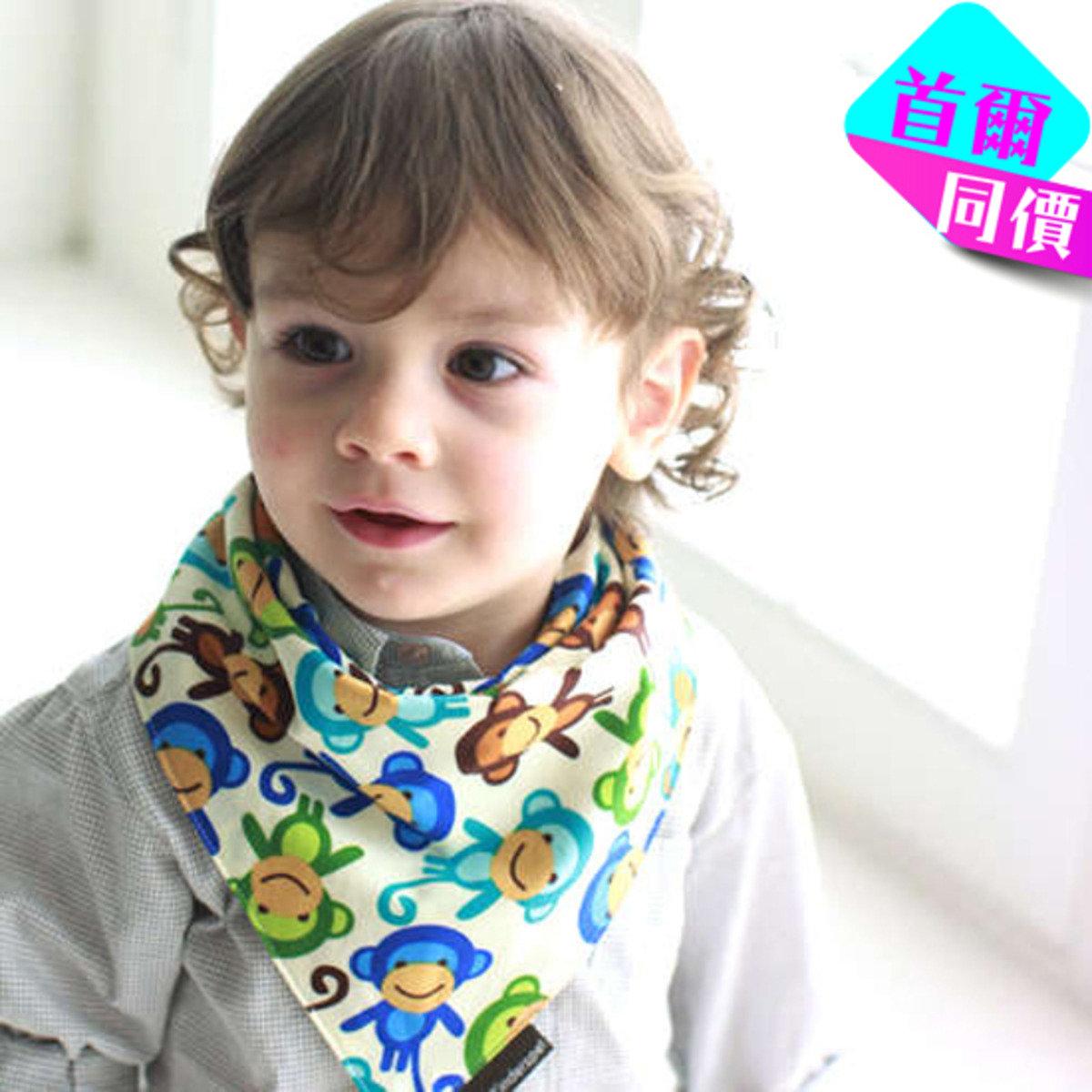 淘氣QQ猴鴨棉質圍兜領巾
