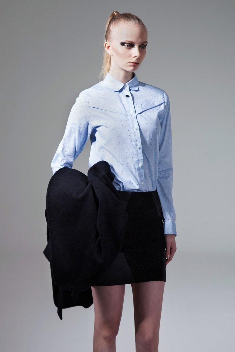 藍色波點長袖恤衫