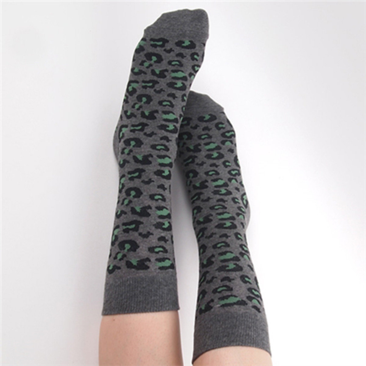 Leopard 中筒襪 (綠色)_socks_13029