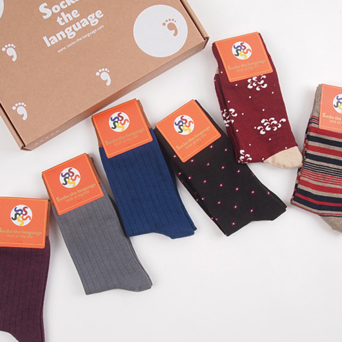 Office 中筒襪套裝 (5對)_socks_13043