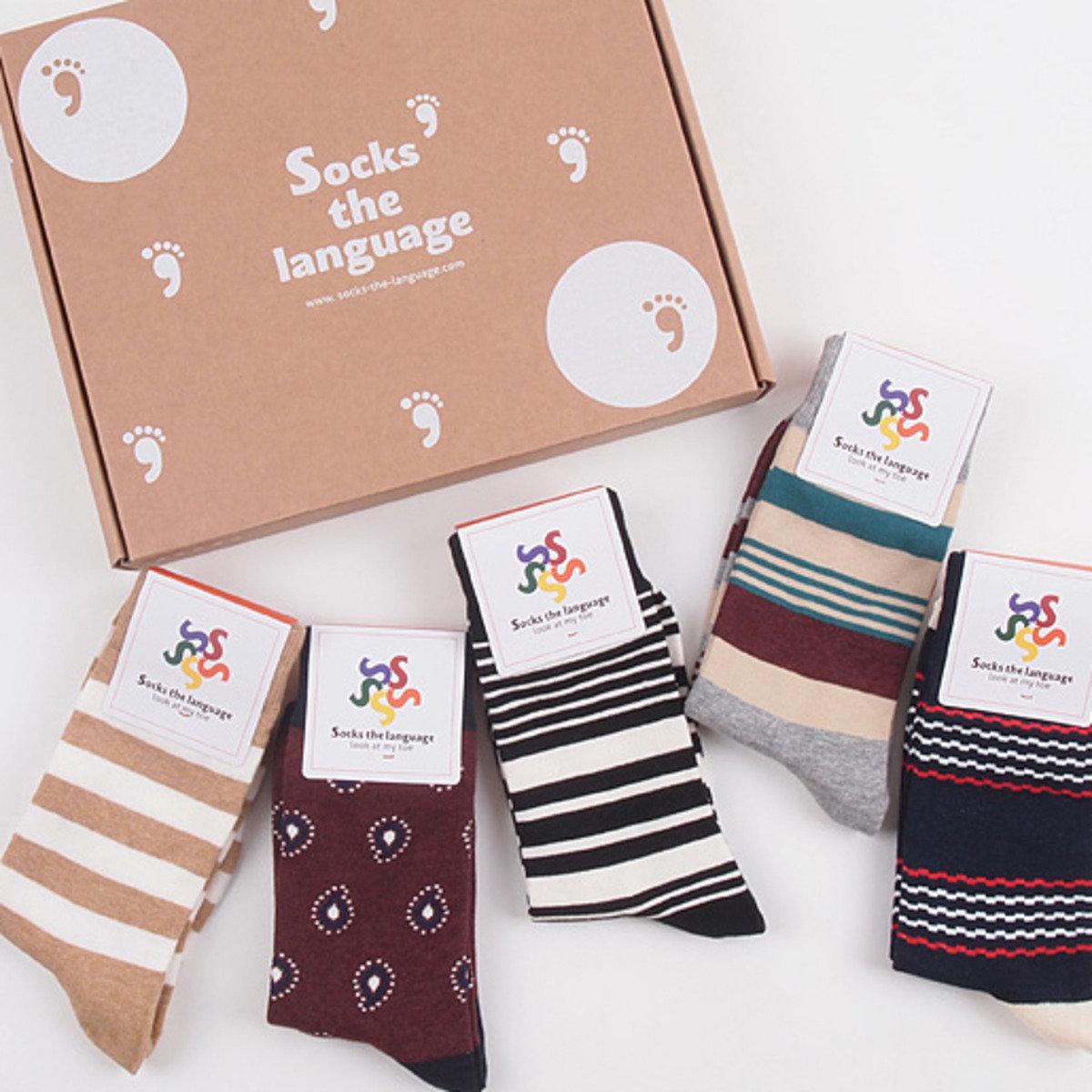 Soft 中筒襪套裝 (5對)_socks_13044