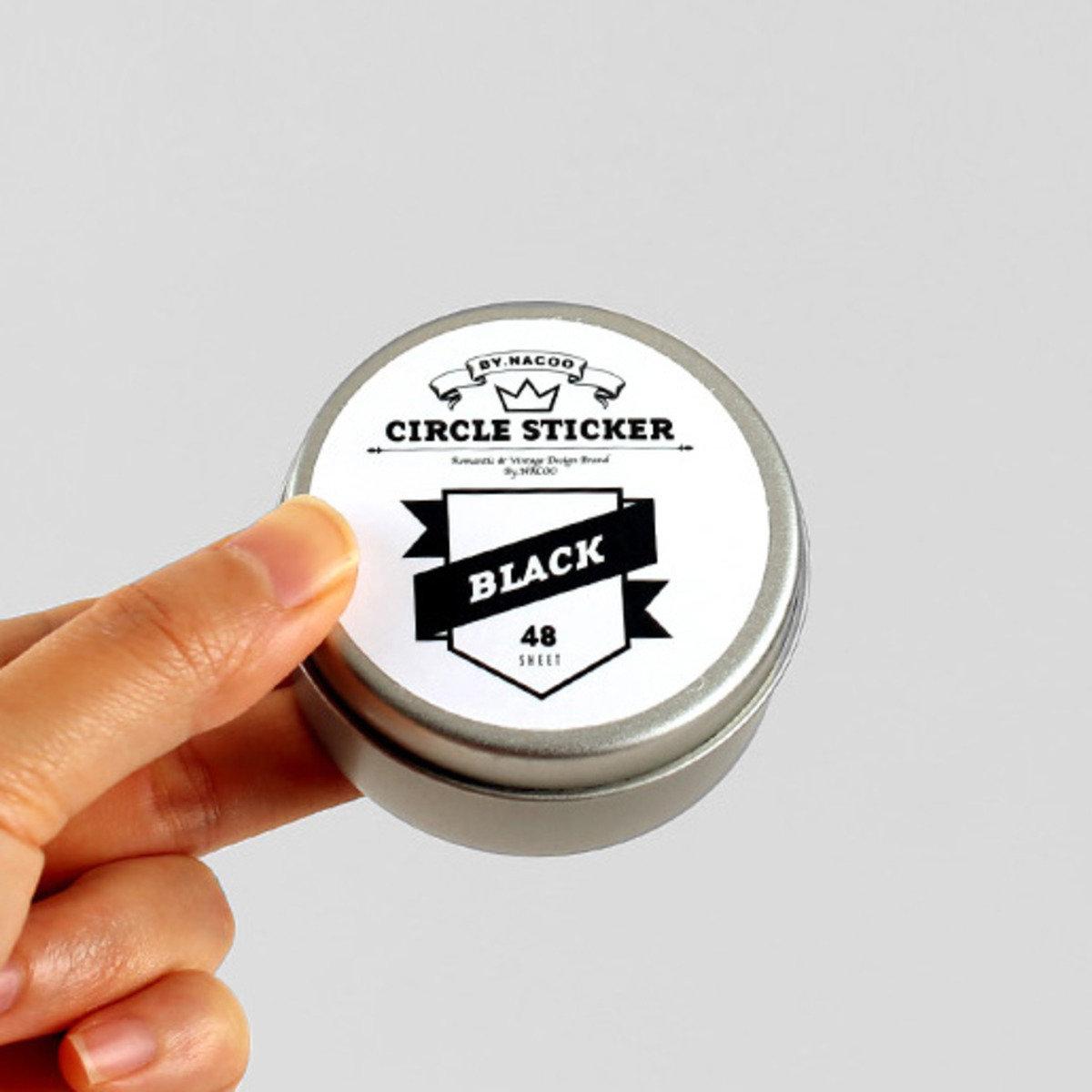 圓罐貼紙套裝 08-Black_nacoo_16953