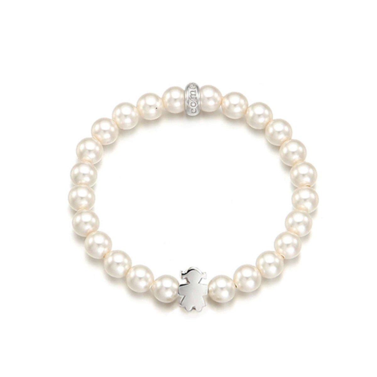 珍珠配銀飾手鏈 (女仔版)