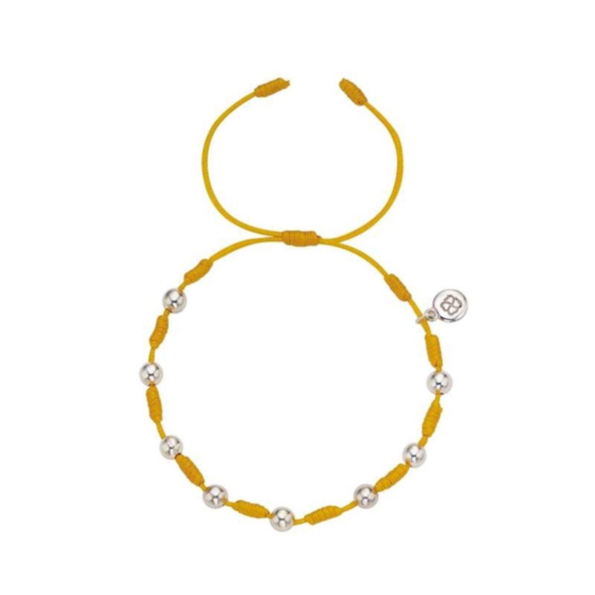 幸運手繩 (銀珠版) (黃色)