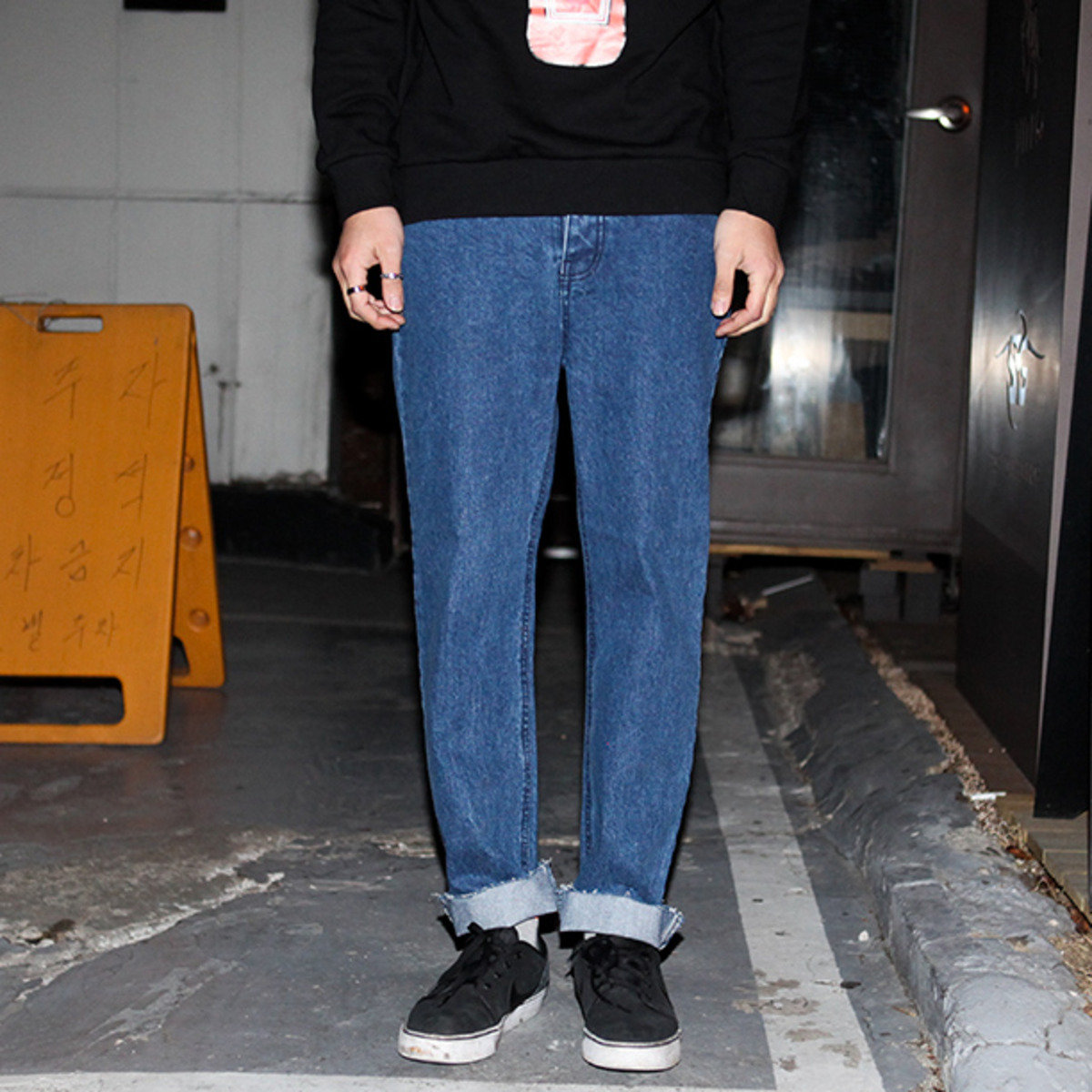 散邊五袋牛仔褲_13510