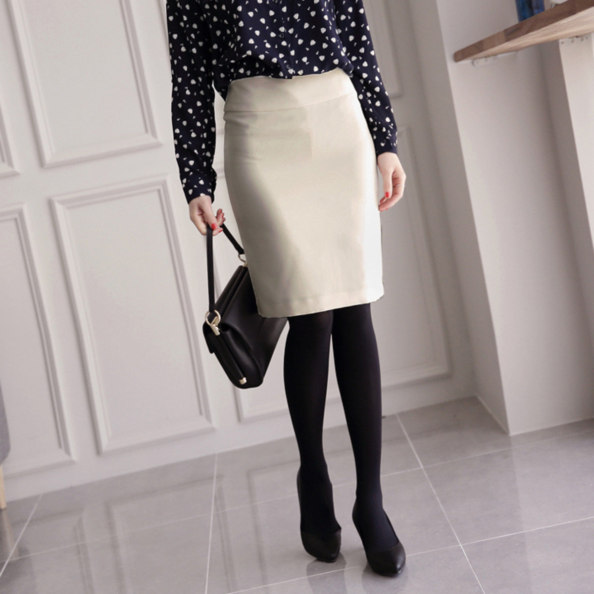 純色直身半截裙_C021766