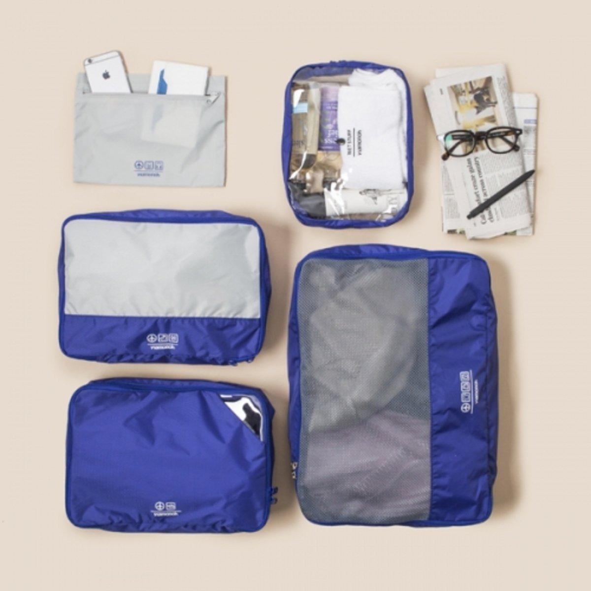 Summer Spot系列五合一旅行包套裝 (藍)_P00000HC