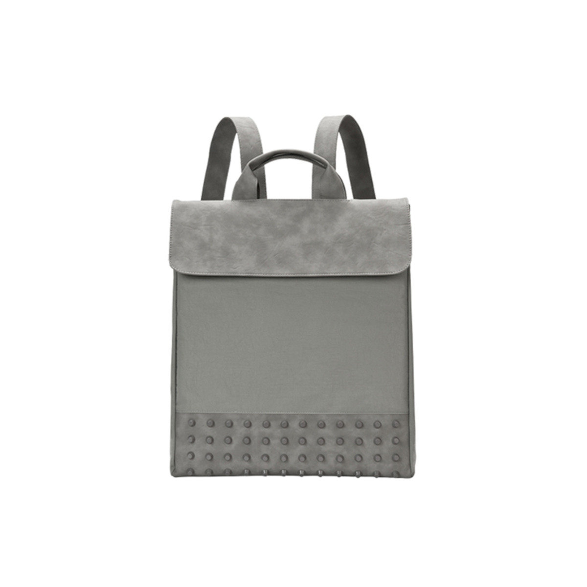 [THE HN] Grey Studs Backpack Large 灰色翻蓋背包 (大)